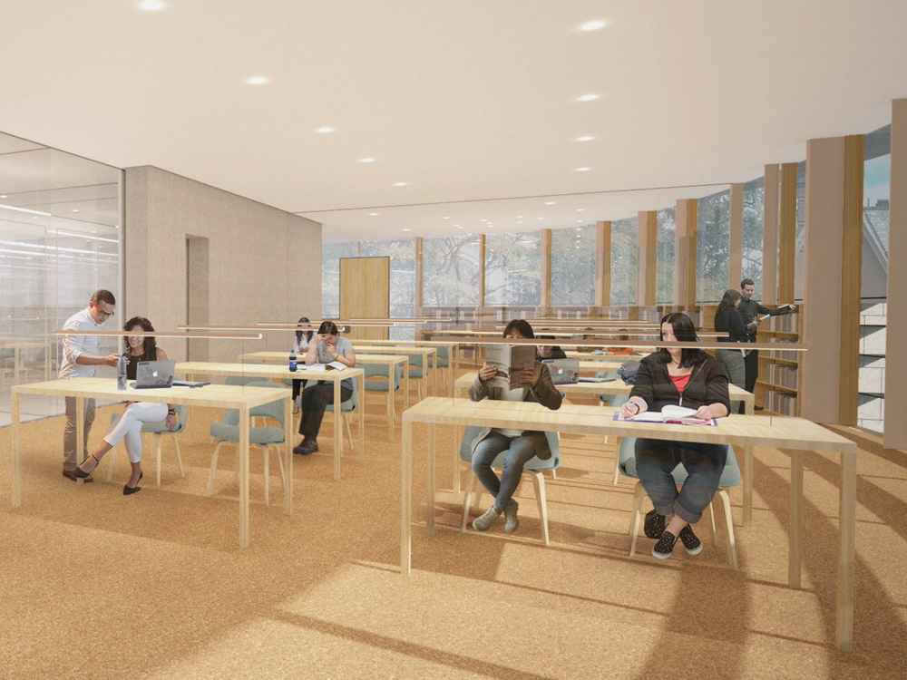 Architectural rendering of New Neilson Special Collections