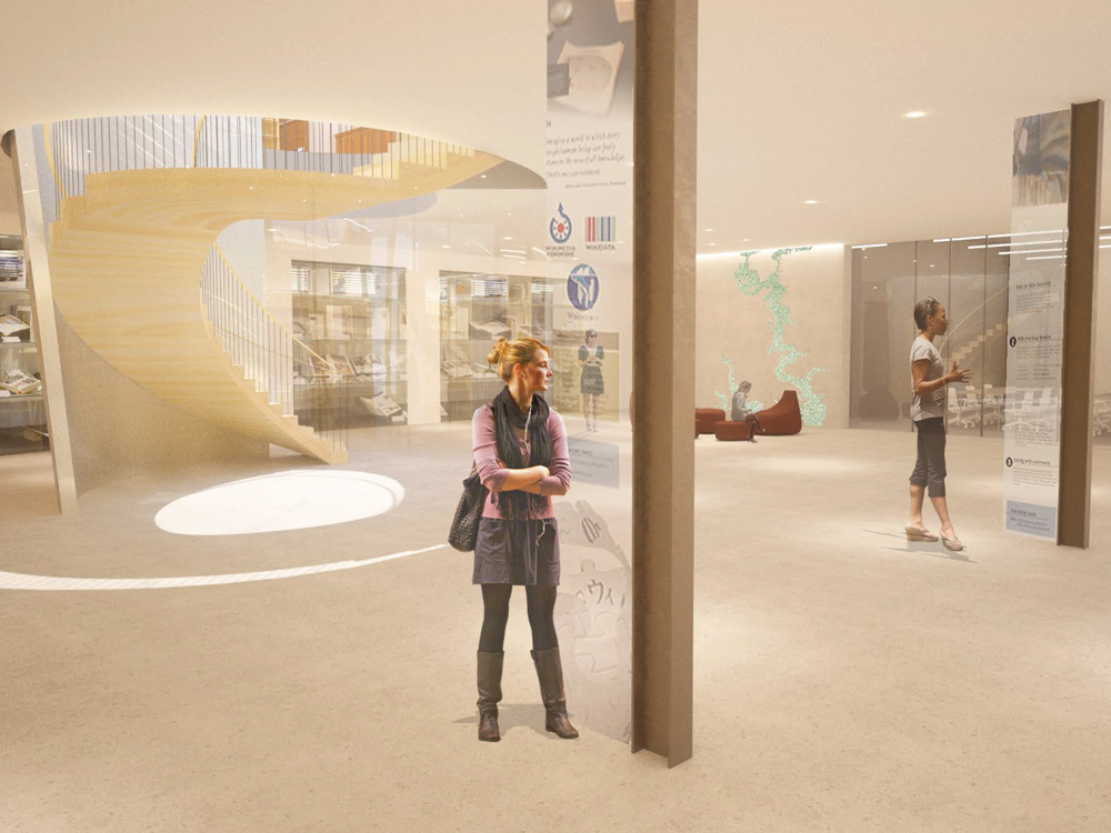 Architectural rendering of New Neilson ground floor lobby