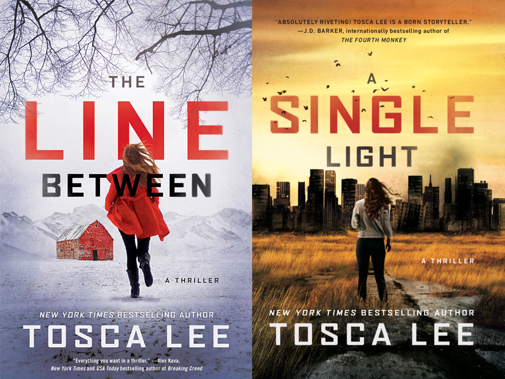 Book Covers of The Line Between and A Single Light