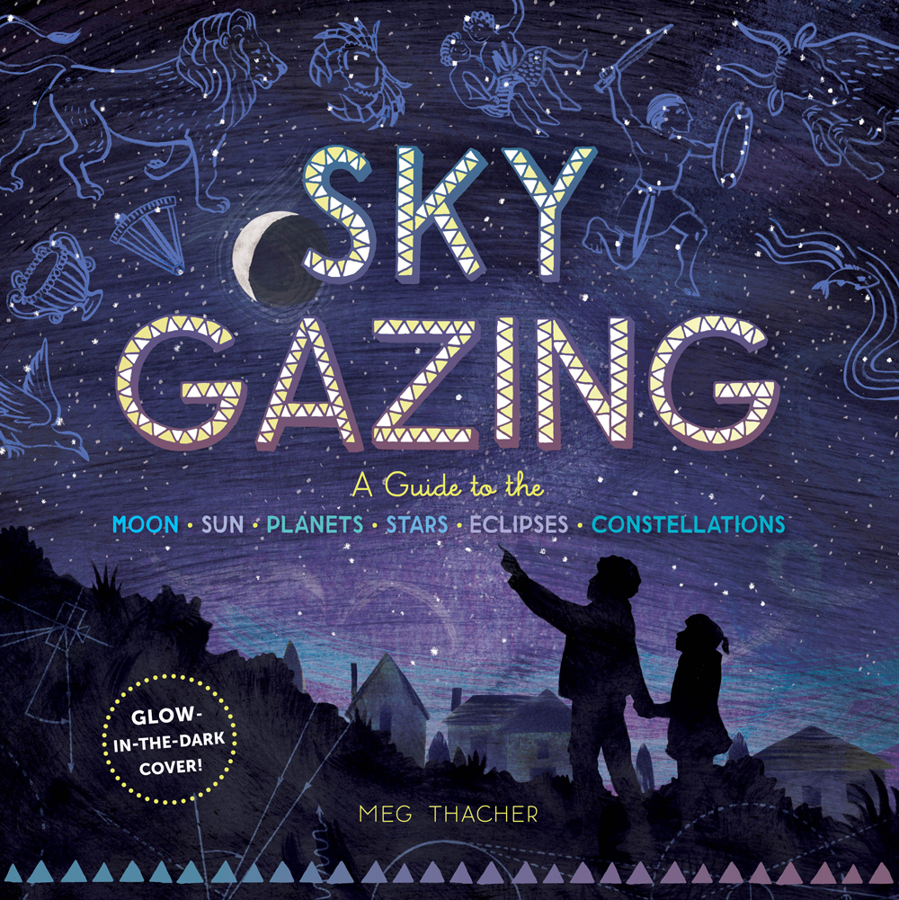 Sky Gazing cover with an illustration of two children pointing at the constellations