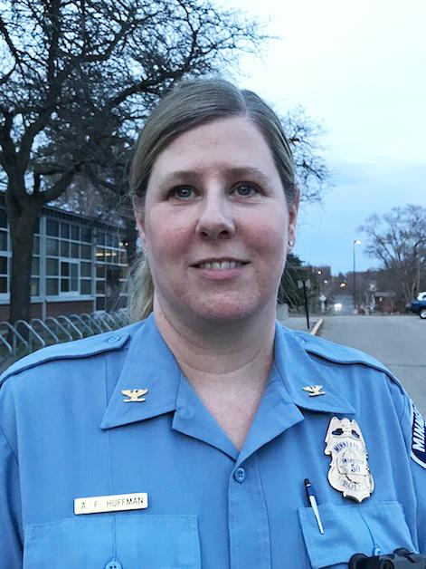 Amelia Huffman in uniform