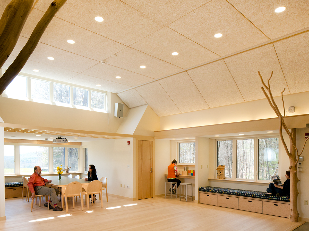 Interior of the Bechtel Classroom building