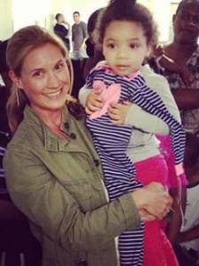 Sarah Bennison and child