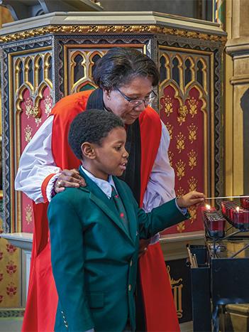 Bishop Jennifer and son