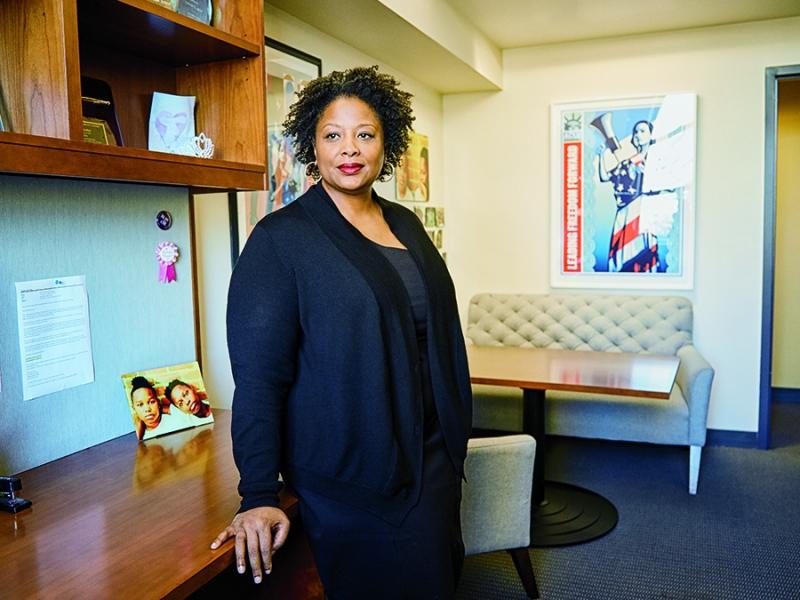 Deborah Archer in her office