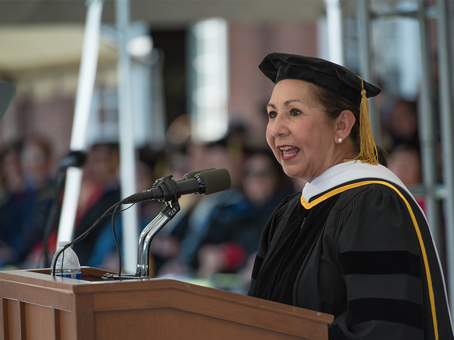 Dr. Juliet Garcia speaks at Smith's 137th Commencement