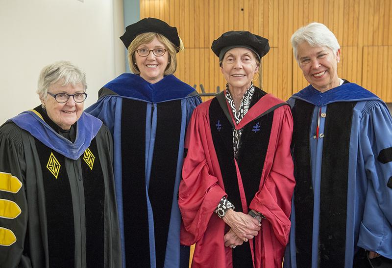 Mary Maples Dunn, Kathleen McCartney, Jill Ker Conway and Carol Christ
