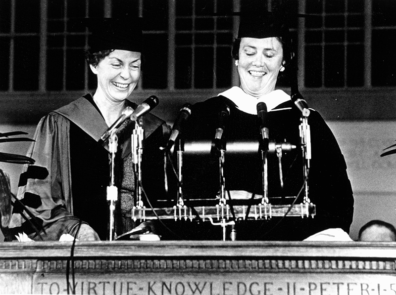 Jill Conway speaking at her inauguration