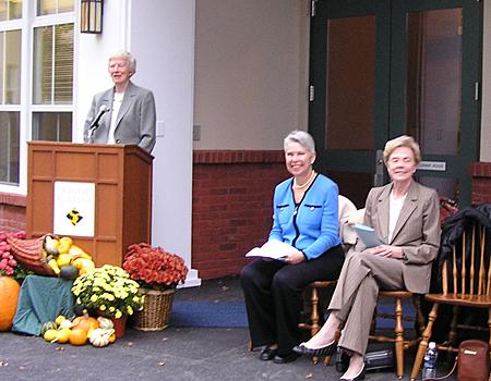 Jill Conway at the dedication of Conway House