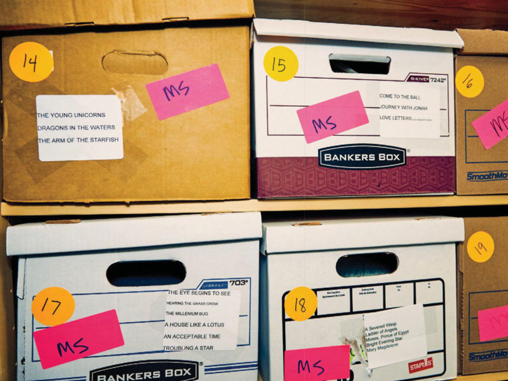 Boxed published and unpublished manuscripts