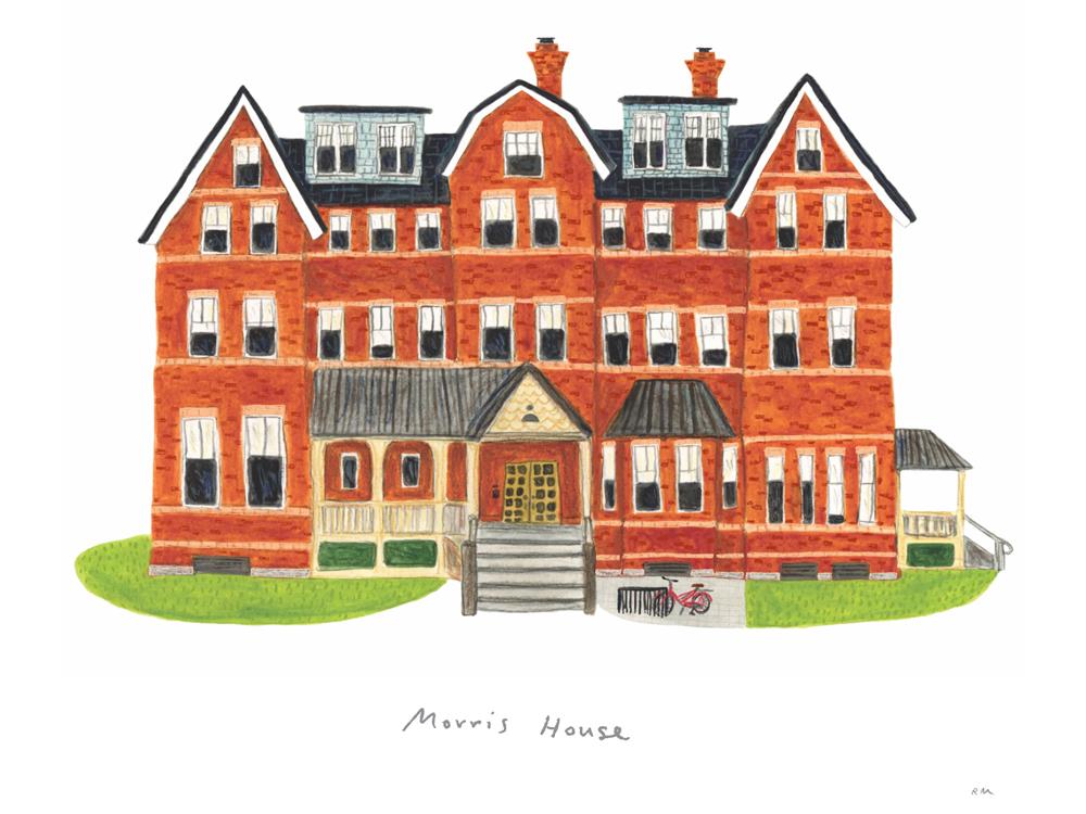 Watercolor of Morris House