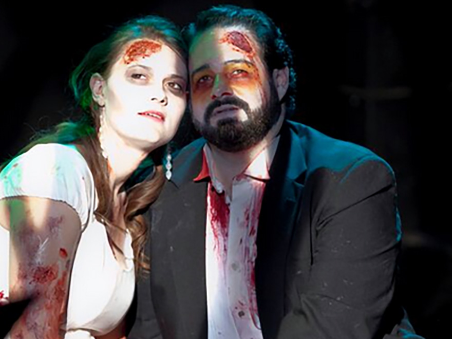 "A still from Flexner's first opera, ""La Zombiata"""