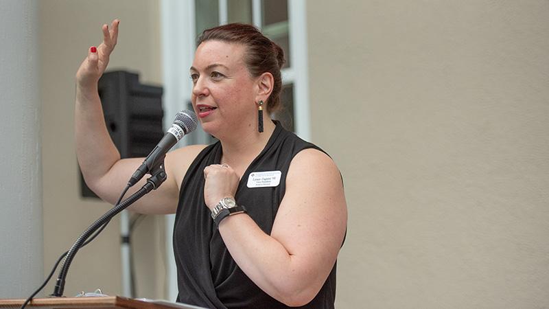 Lynne Zagami at an alumnae board meeting