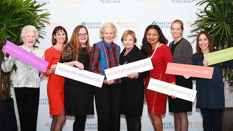 A group of volunteer award recipients