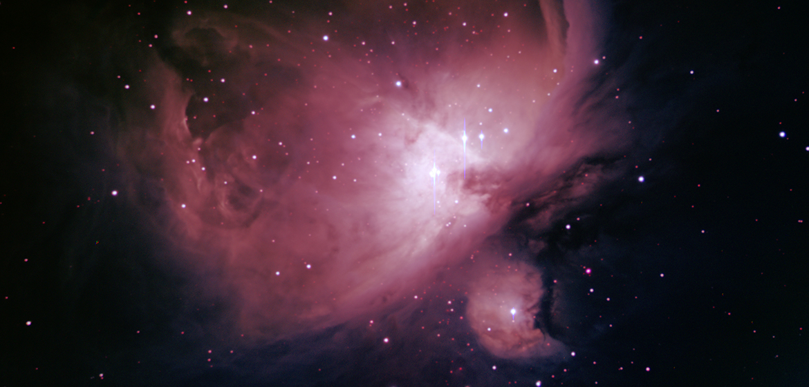 M42: Filters: V, R, I, Ha. Total Exposure Time: 52 mins