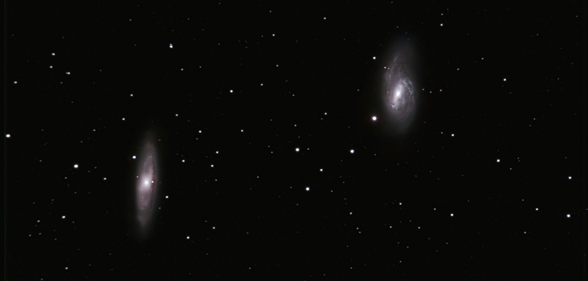 M65&66: Filters: V, R, I, C. Total Exposure Time: 92 mins