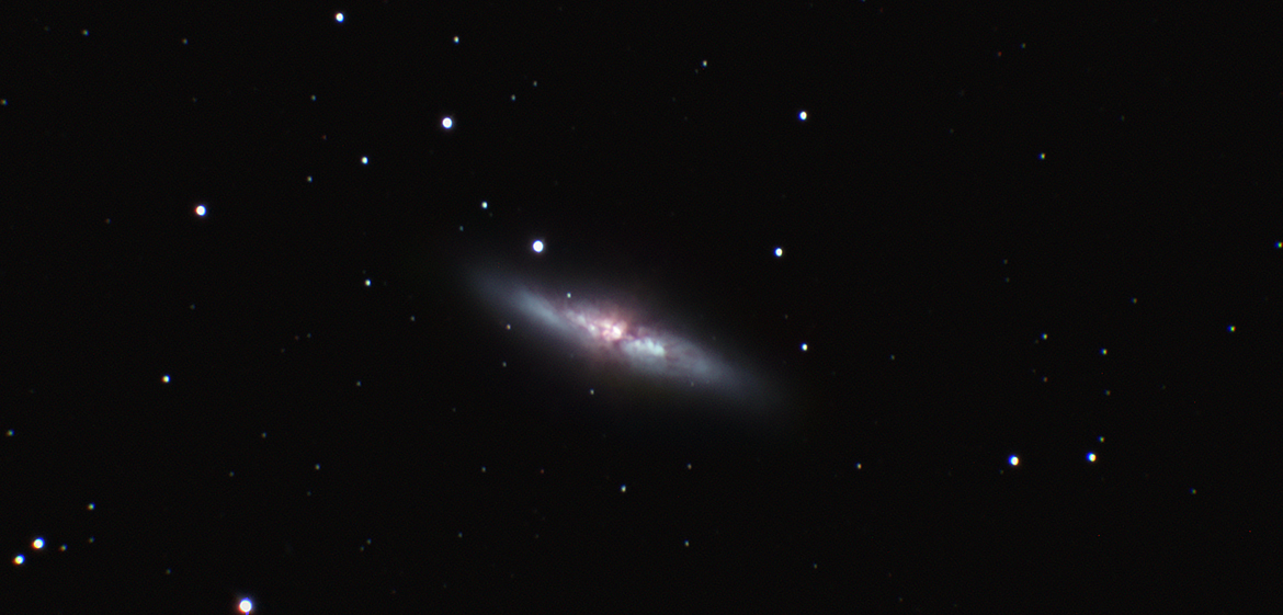 M82: Filters: V, R, I, Ha. Total Exposure Time: 380 mins
