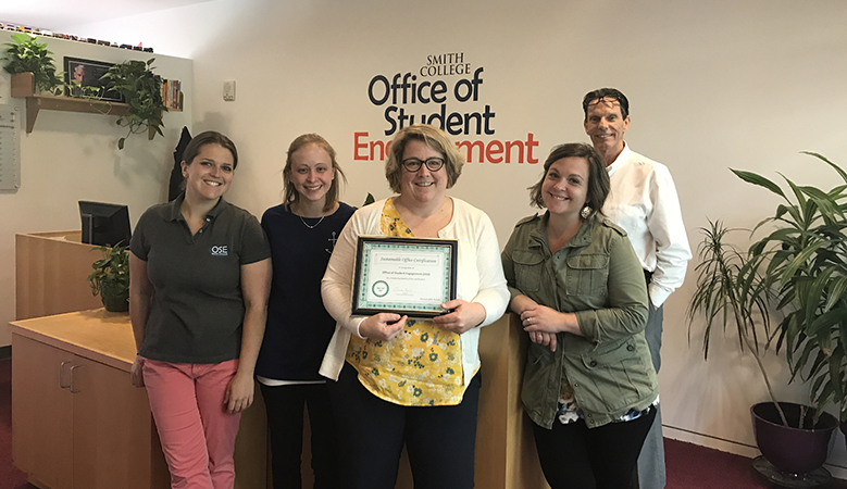 Office of Student Engagement with their Sustainable Office Certification
