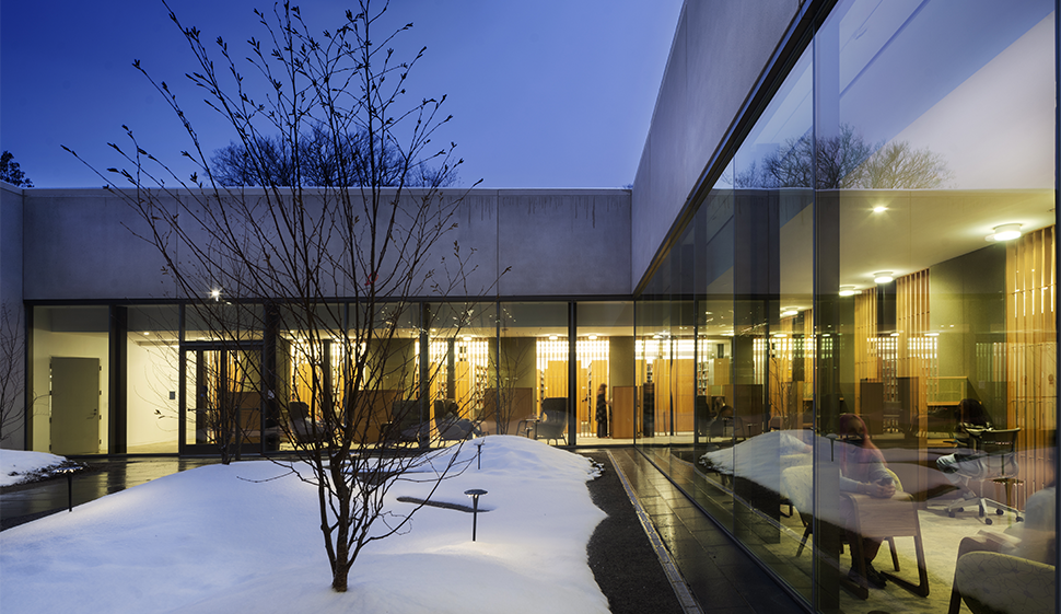 Outside view of Neilson courtyard
