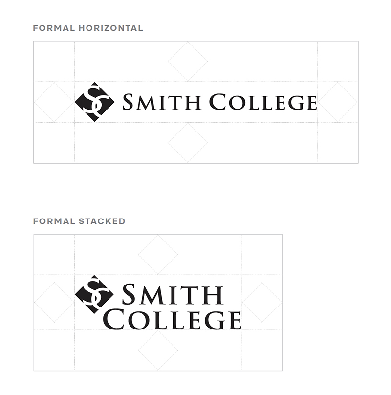 illustrating white space around formal Smith College logo