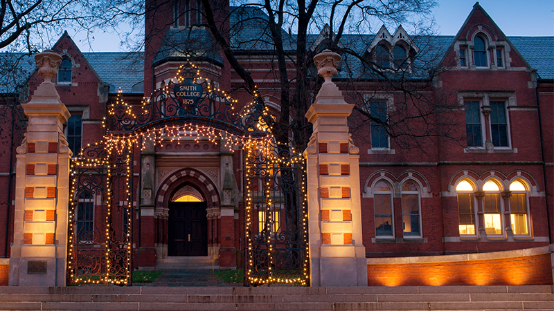 The Grecourt Gates, lit for the holidays