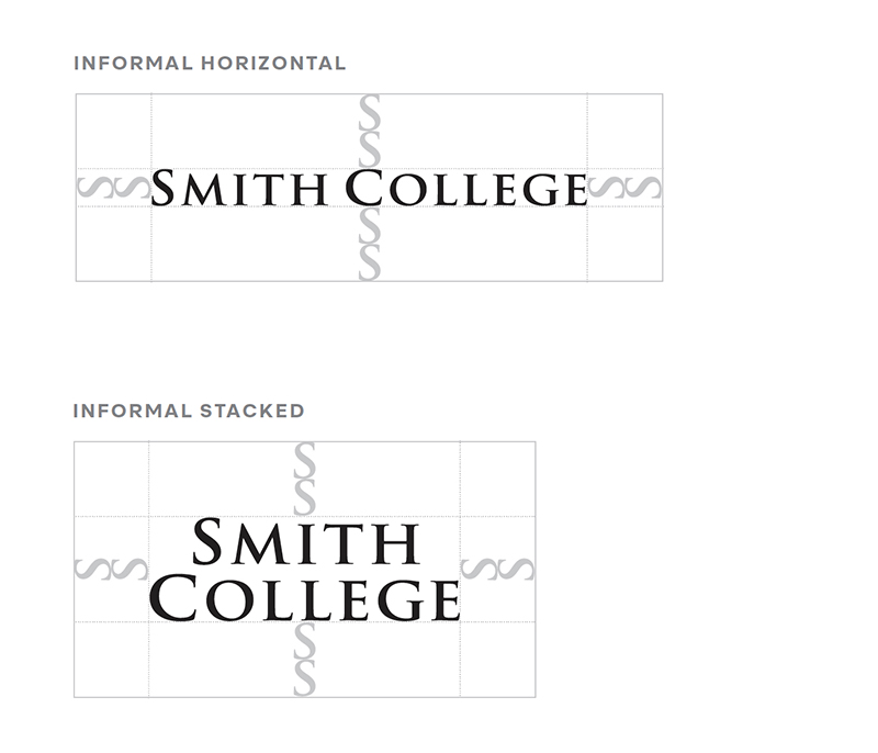 illustrating white space around informal Smith College logo