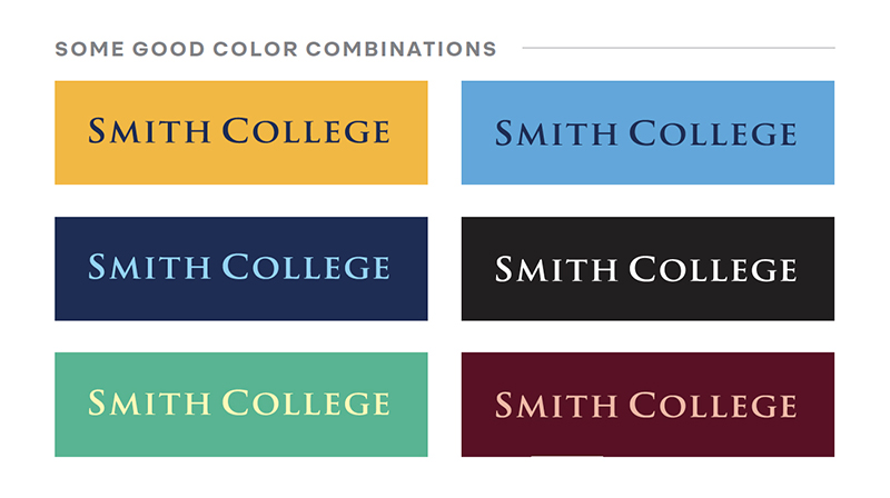 Examples of good logo color combinations