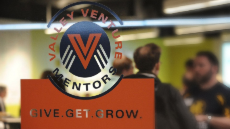 Valley Venture Mentors logo in window