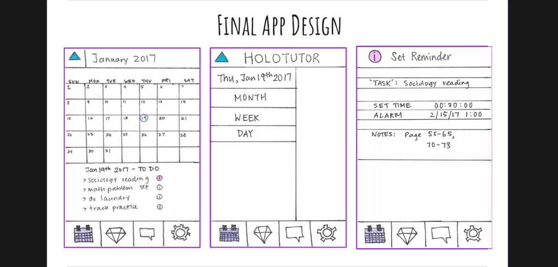 Drawing of app calendar