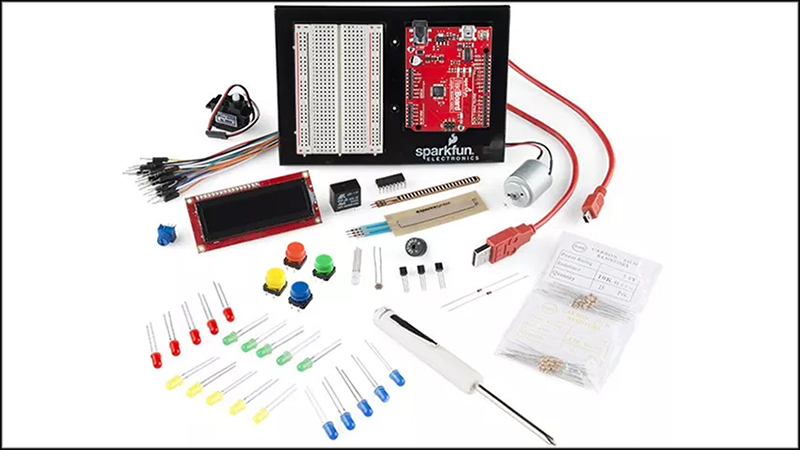Photo of the SparkFun Inventors' Kit