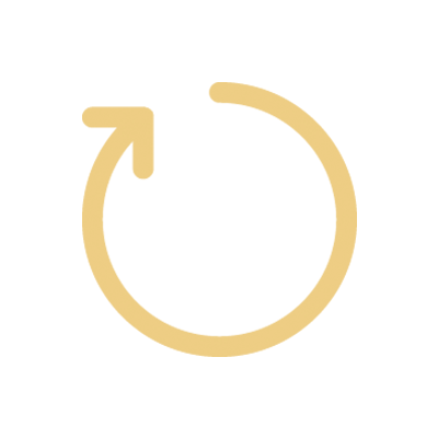 One circle with an arrow at the end
