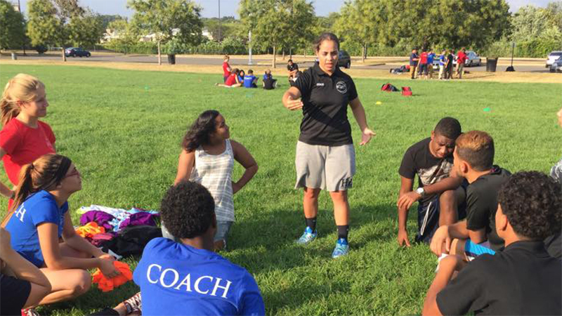 Project Coach Yesenia works with new and returning coaches