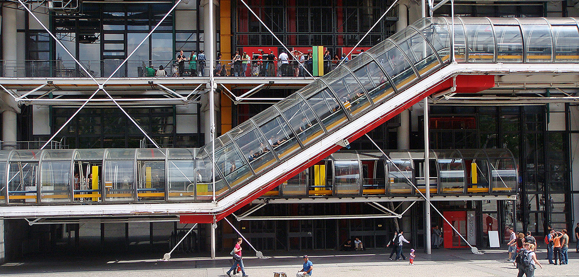 Beaubourg escalator