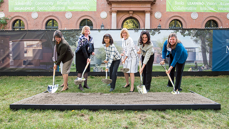 Groundbreaking for the new Neilson Library