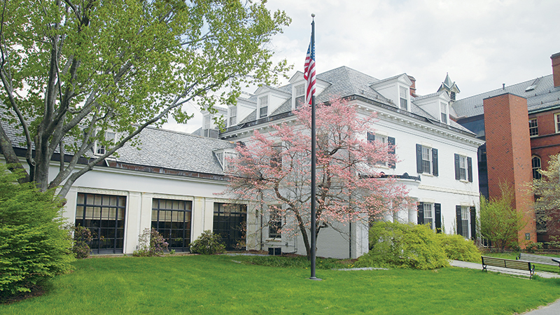 Spring photo of the Alumnae House