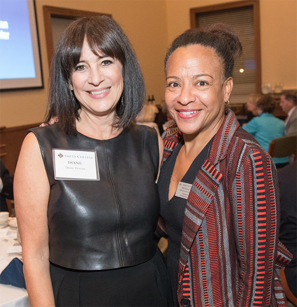 Diane Hessan and Monica Dean at the Conway Center dedication