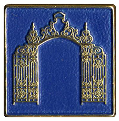 Closeup of the Grecourt Society pin