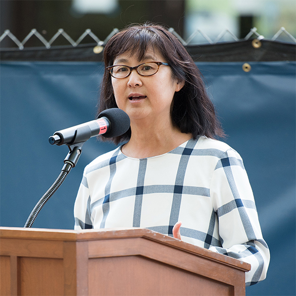 Maya Lin at the Neilson Library groundbreaking