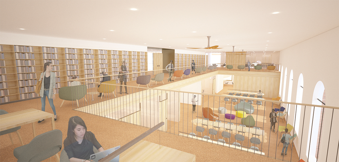 Rendering of the academic commons