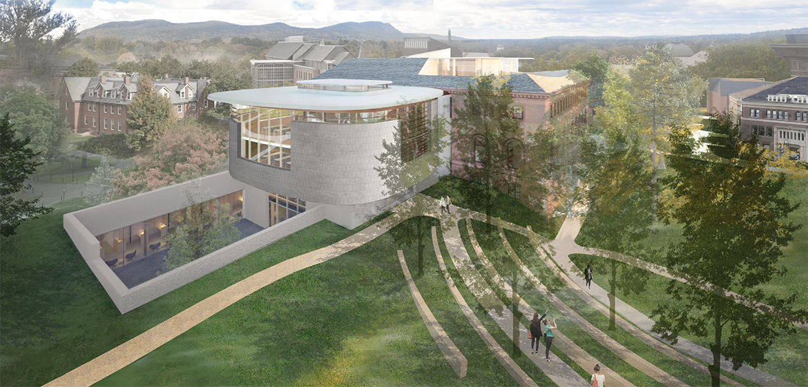 Rendering of the courtyard and amphitheater