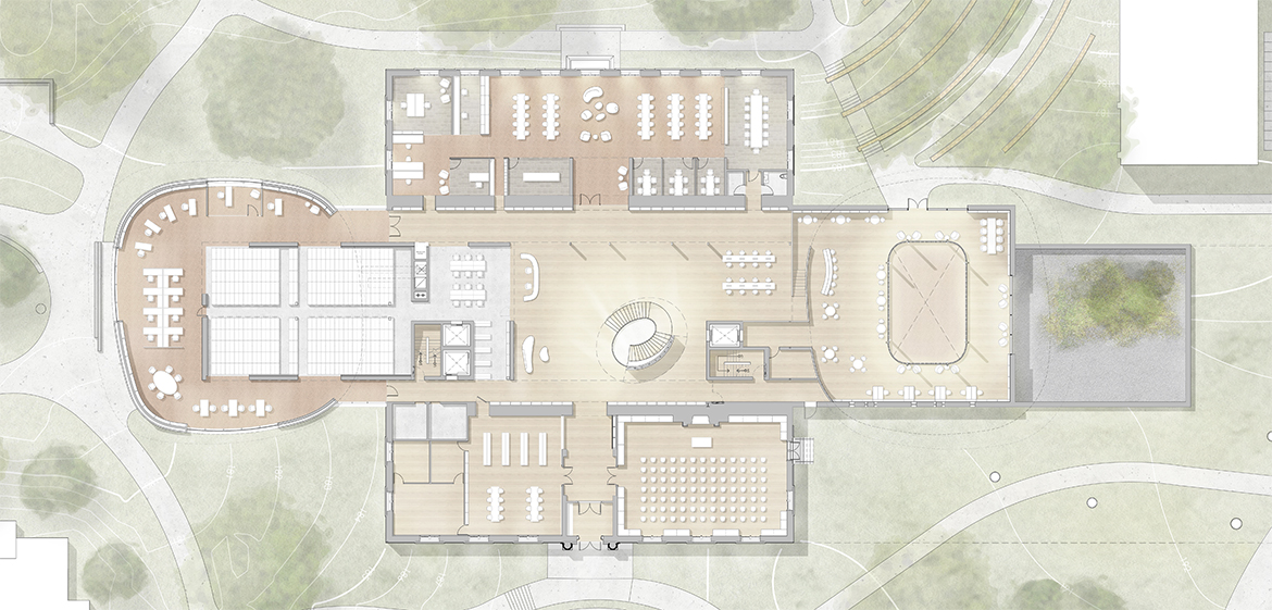 Rendering of the first floor site plan