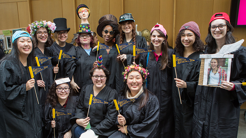 Group of students in their Rally Day hats