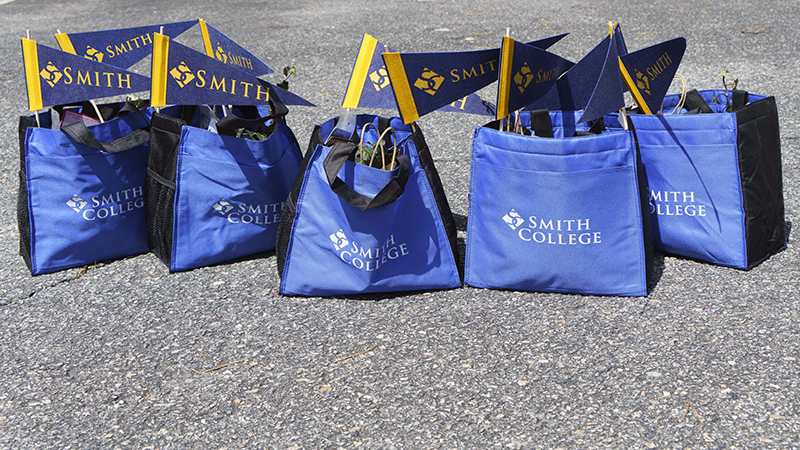 Gift bags given to graduating seniors by the Cape Cod Smith club
