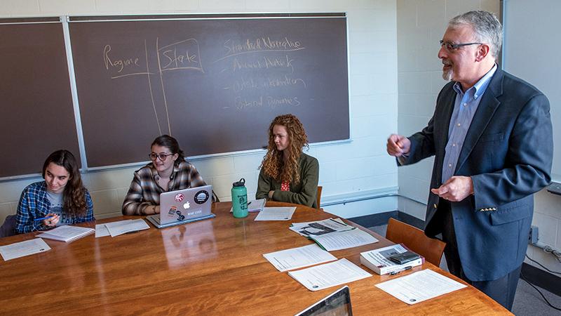 Steve Heydemann teaching