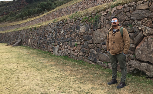 Javier Puente in the Andes