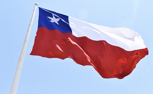 Photo of Chile's flag