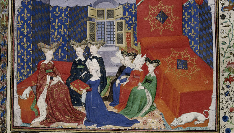Christine de Pizan Painting with Queen Isabel
