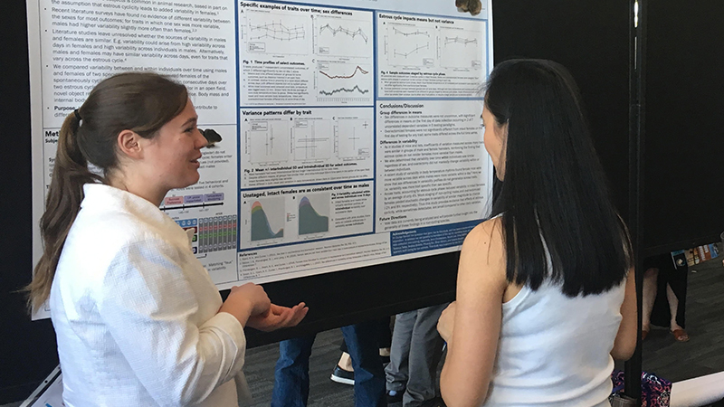 Neuroscience students at a conference in Long Beach, CA