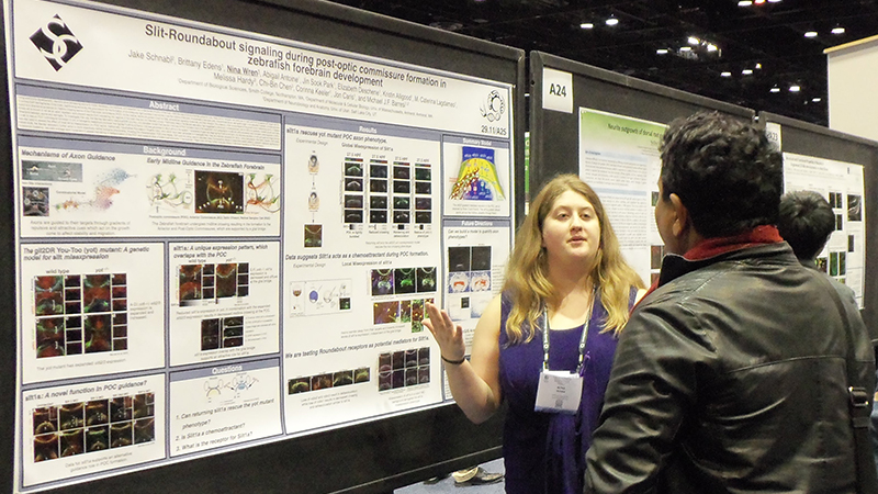 A neuroscience student at a conference in San Diego