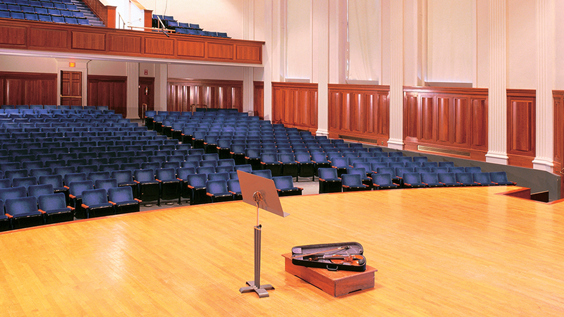Seats in Sweeney Concert Hall